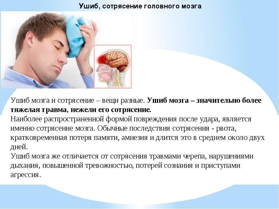 Сотрясение мозга - медицинский центр «эхинацея»