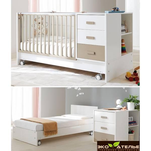 Кроватка трансформер: правила использования универсальных детских кроваток