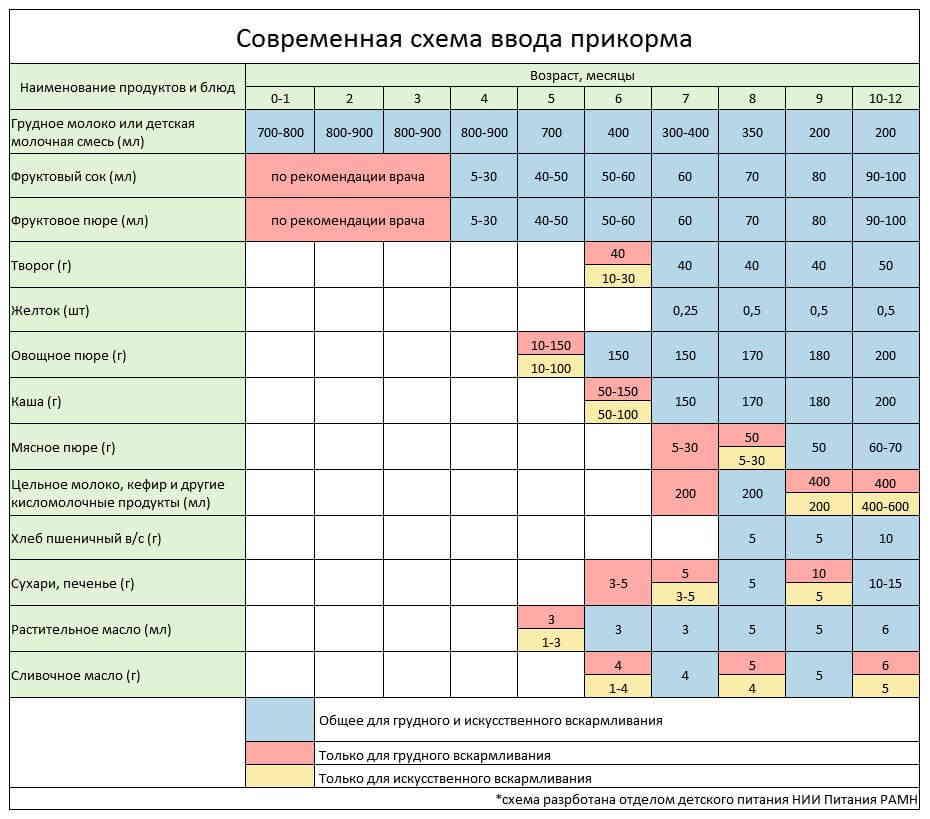 Рацион питания ребенка в 8 месяцев и пример меню