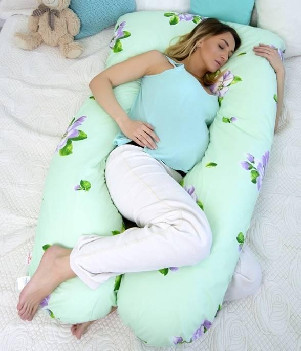 Подушка у-образной формы как самый лучший аксессуар для сна при беременности