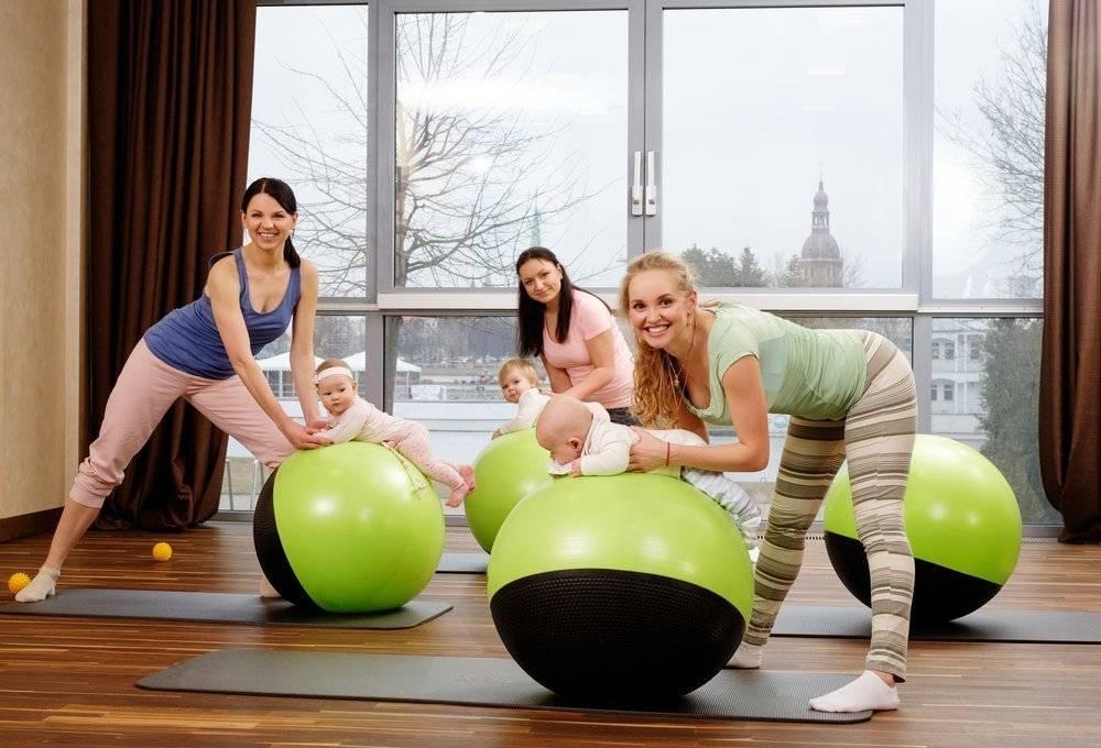 Упражнения на фитболе для грудных детей и малышей постарше