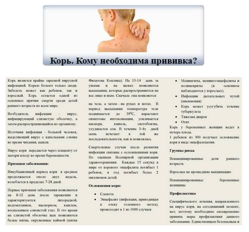 Корь у детей: первые симптомы, лечение и профилактика (прививка от кори)