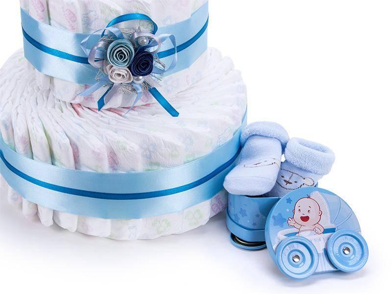 Подарочный торт из памперсов своими руками девочке и мальчику: пошаговые мастер-классы для начинающих