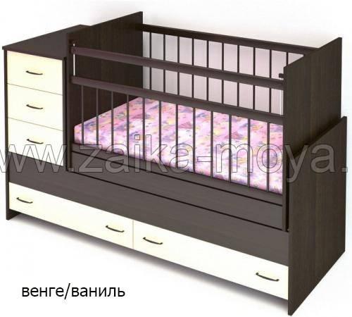 Кроватка трансформер – преимущества использования для новорожденных (95 фото)