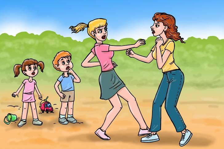 Как помочь решить конфликты между детьми на прогулке