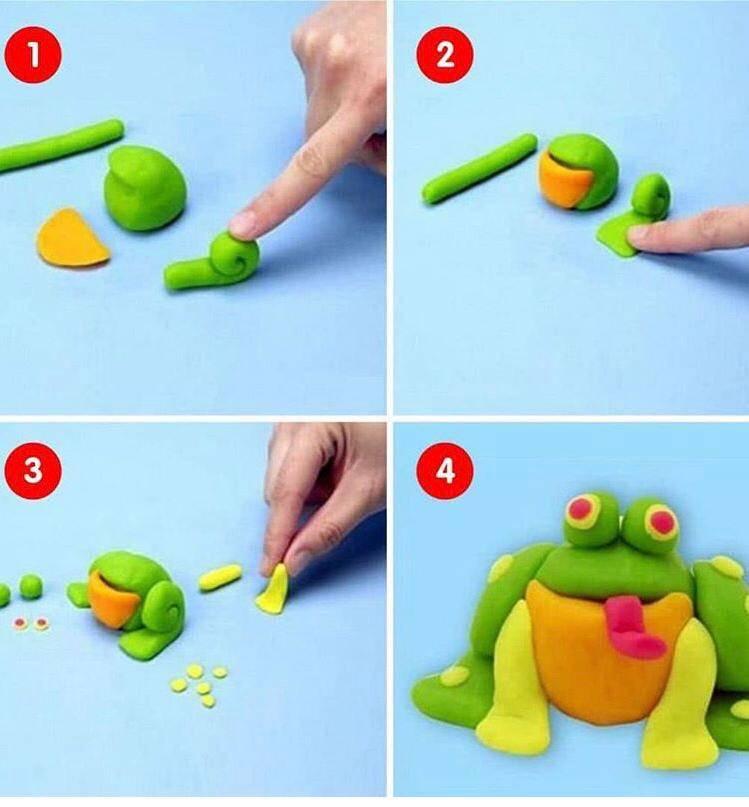Лепка для малышей 1-2 лет или развивающие игры с тестом – жили-были