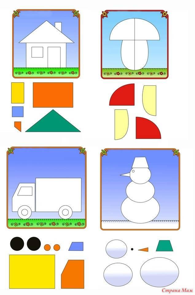 Аппликации для детей 4-5 лет своими руками. шаблоны. мастер-классы с фото