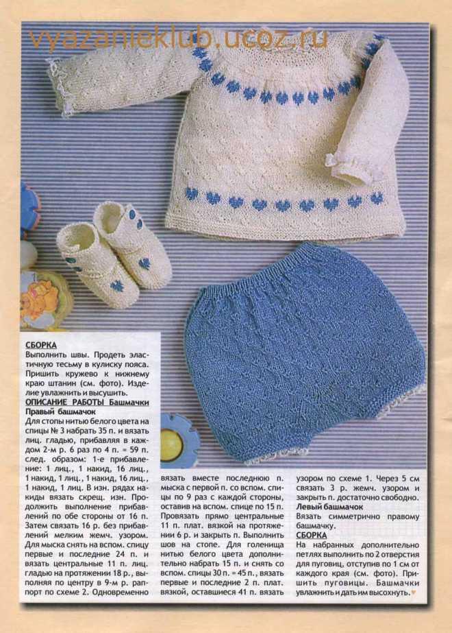 Мастер-классы по вязанию носочков для малышей спицами