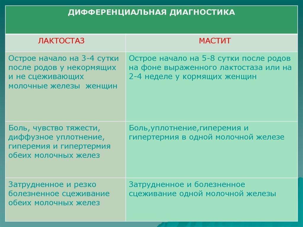 Лактостаз: схема действий - проблемы гв