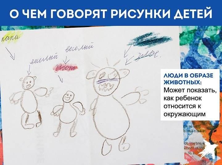 Расшифровка детского рисунка в психологии