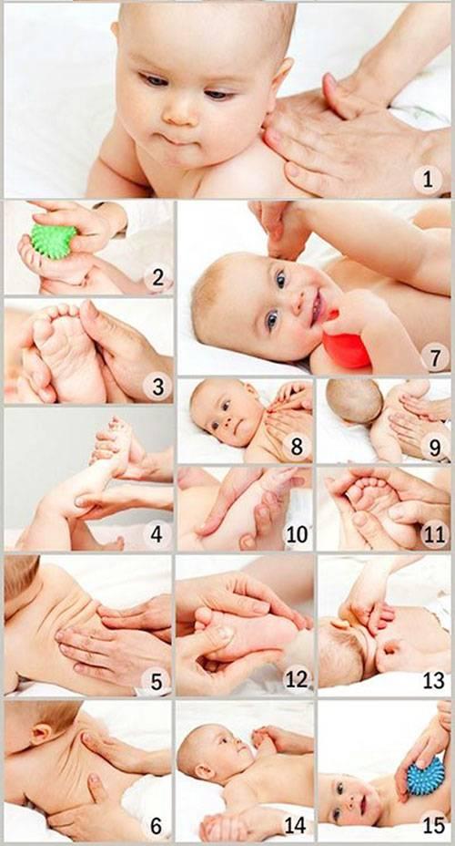 Массаж для новорожденных с 1 3 месяца жизни в домашних условиях | преображение жизни