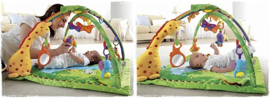 Развивающие коврики для малышей: какие бывают?
