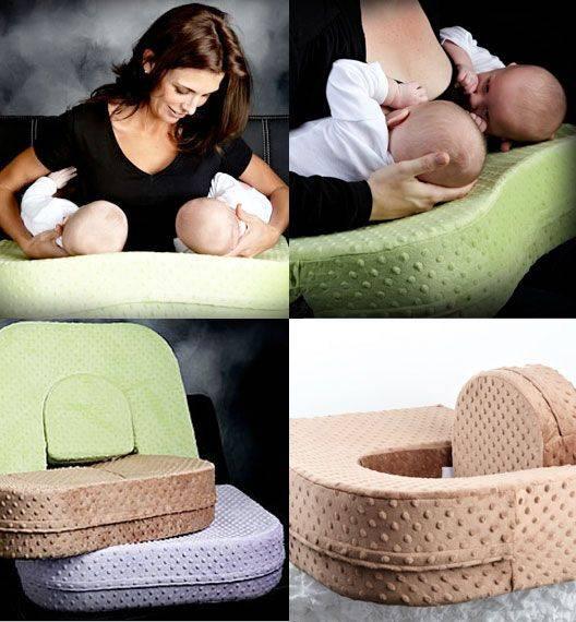 Виды подушек для кормления грудного ребенка и двойни