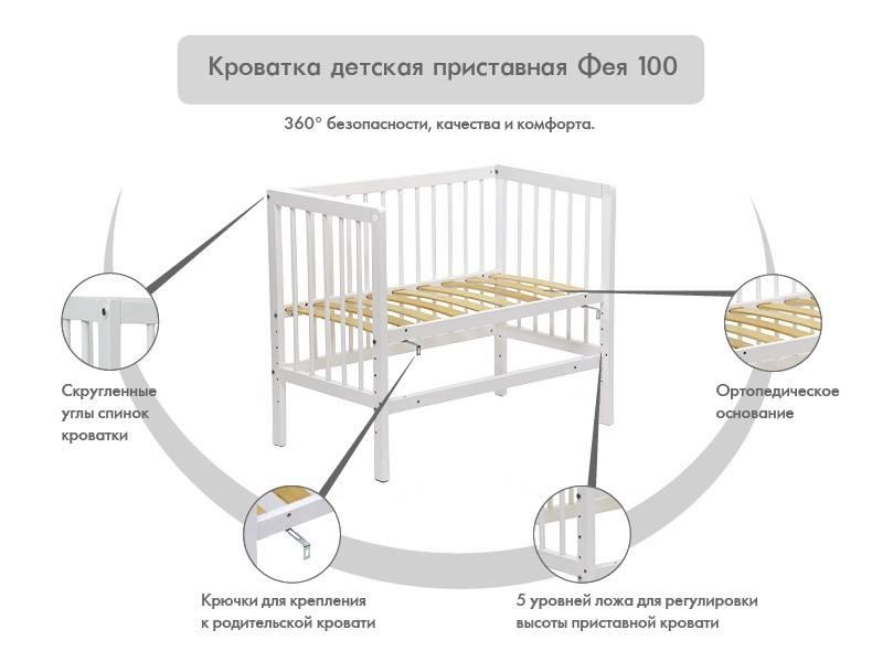 Параметры и описание детских кроваток для новорожденных