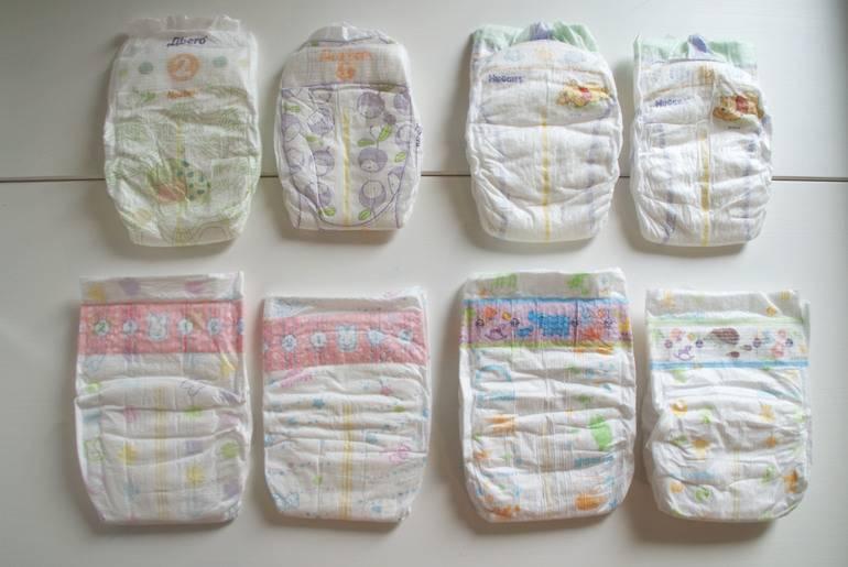 Все размеры подгузников для ребенка по возрасту