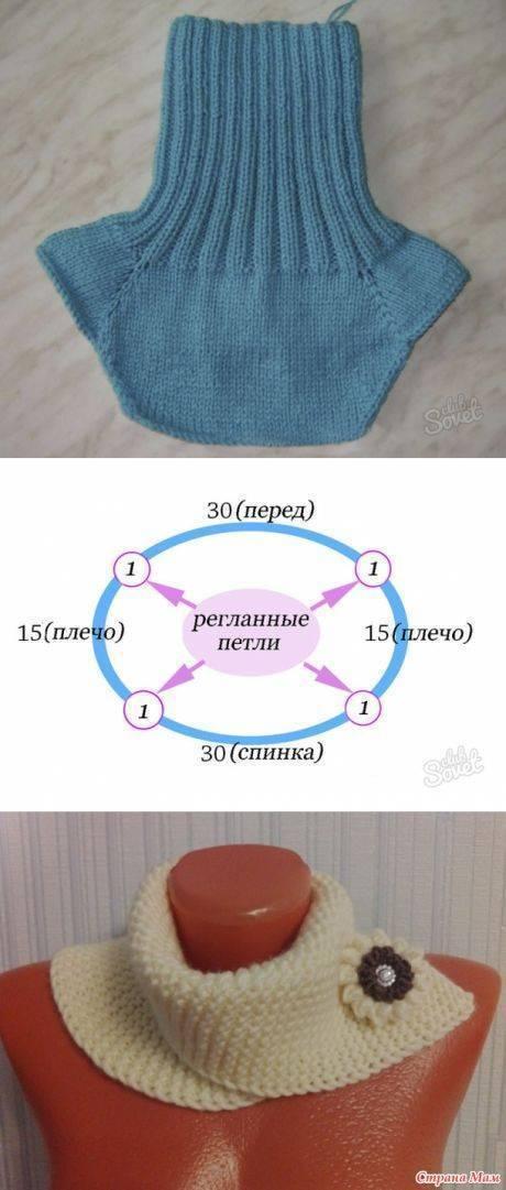Манишка спицами для ребенка: самый простой вариант | ух ты!