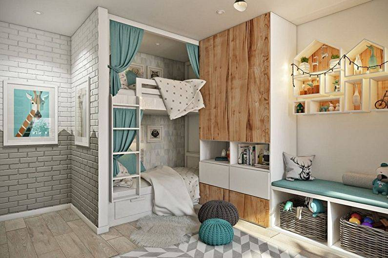 Детская комната в скандинавском стиле: 50+ фото в интерьере