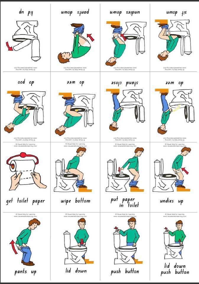 Как научить ребенка вытирать попу после туалета
