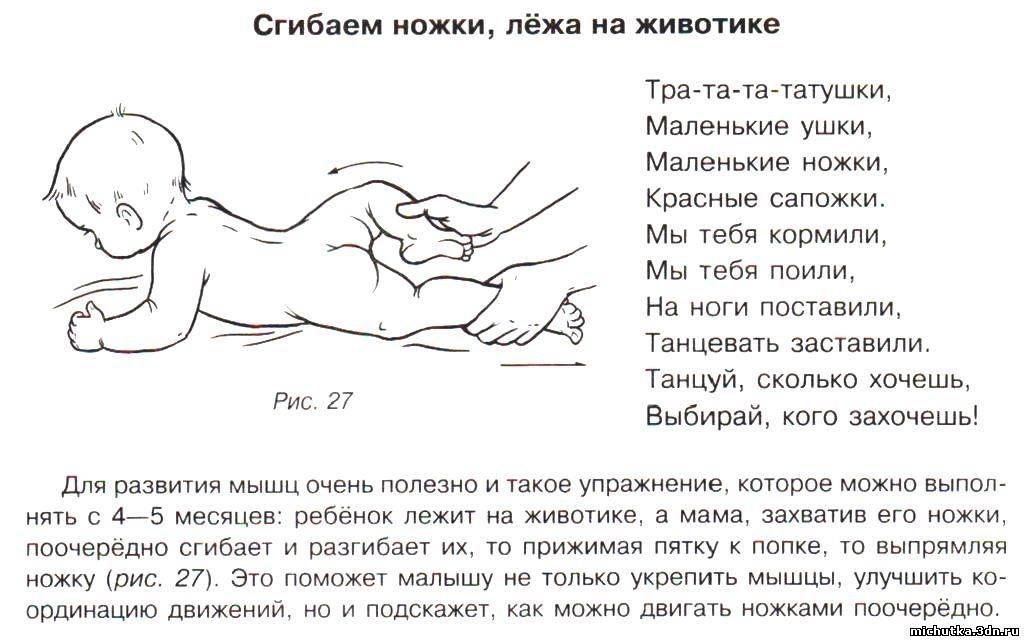 Когда и как можно выкладывать новорожденного на животик