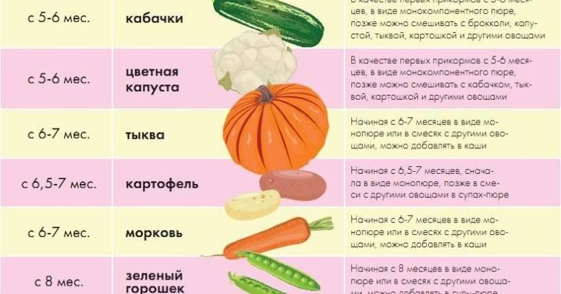 Какие овощи должны быть в рационе кормящей мамы в первый месяц и что можно при грудном вскармливании малыша