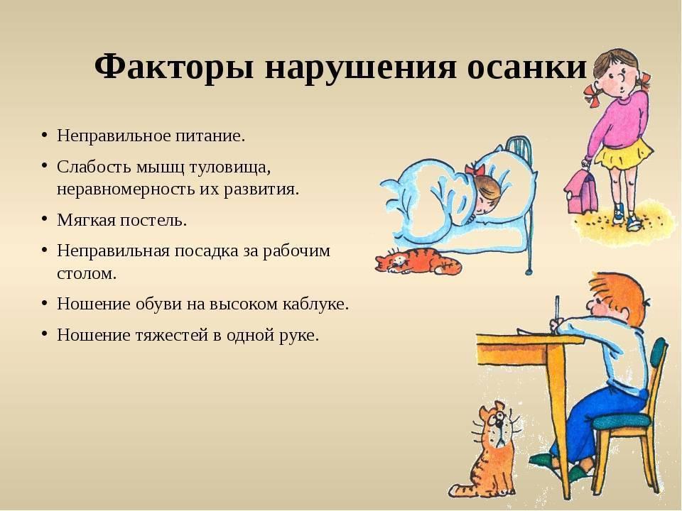 Нарушения осанки у детей: симптомы и лечение