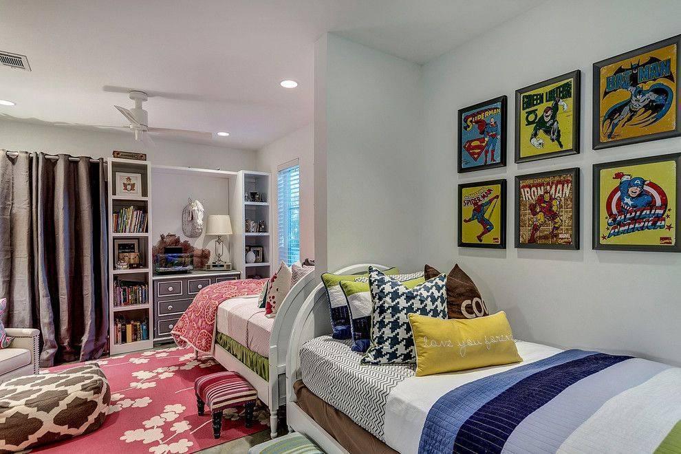 Комнаты для двоих разнополых детей | 70 фото комнат