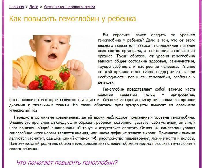Анемия (низкий гемоглобин)