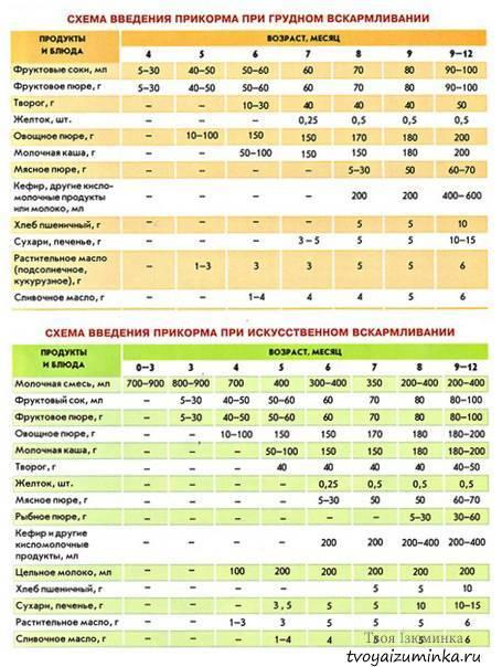 Введение прикорма при искусственном вскармливании: рекомендации