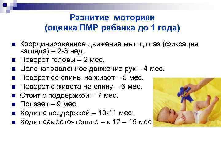 Развитие ребенка на первом году жизни