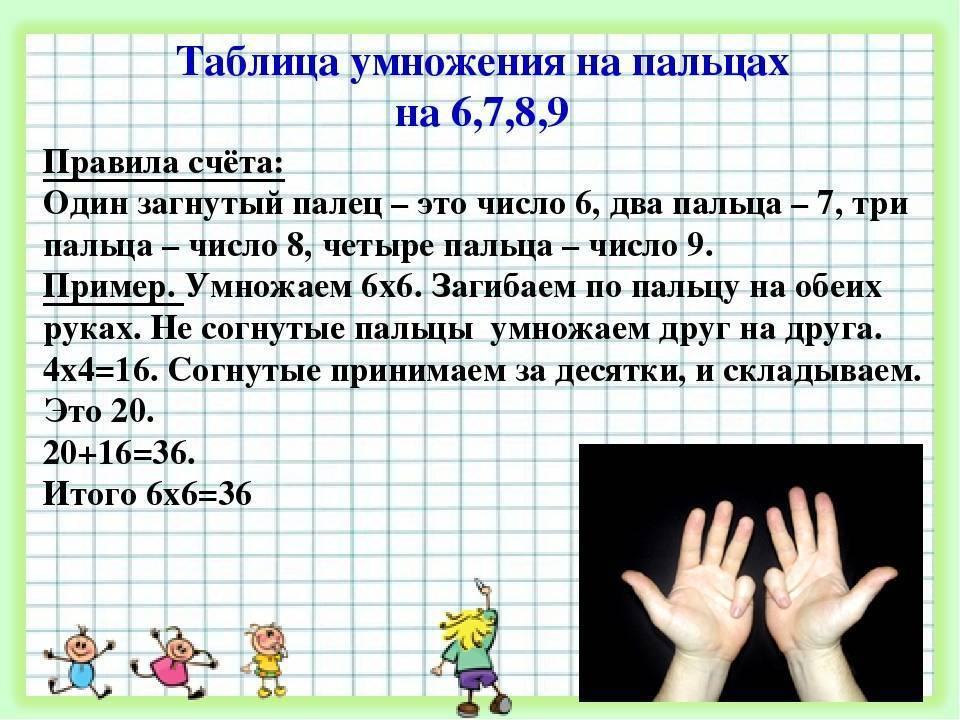 Как быстро выучить таблицу умножения ребенку 8 лет?