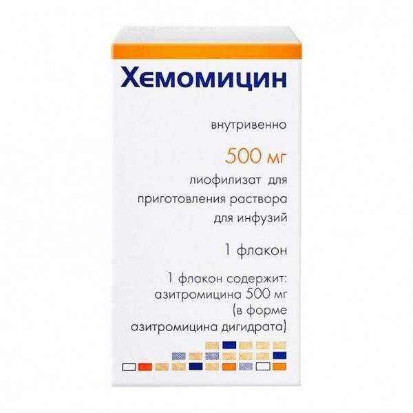 Суспензия «хемомицин» для детей: инструкция по применению